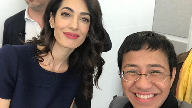 INTERNATIONAL SUPPORT. Amal Clooney with Rappler CEO and executive editor Maria Ressa after an event in New York in April 2019. File photo by Rappler