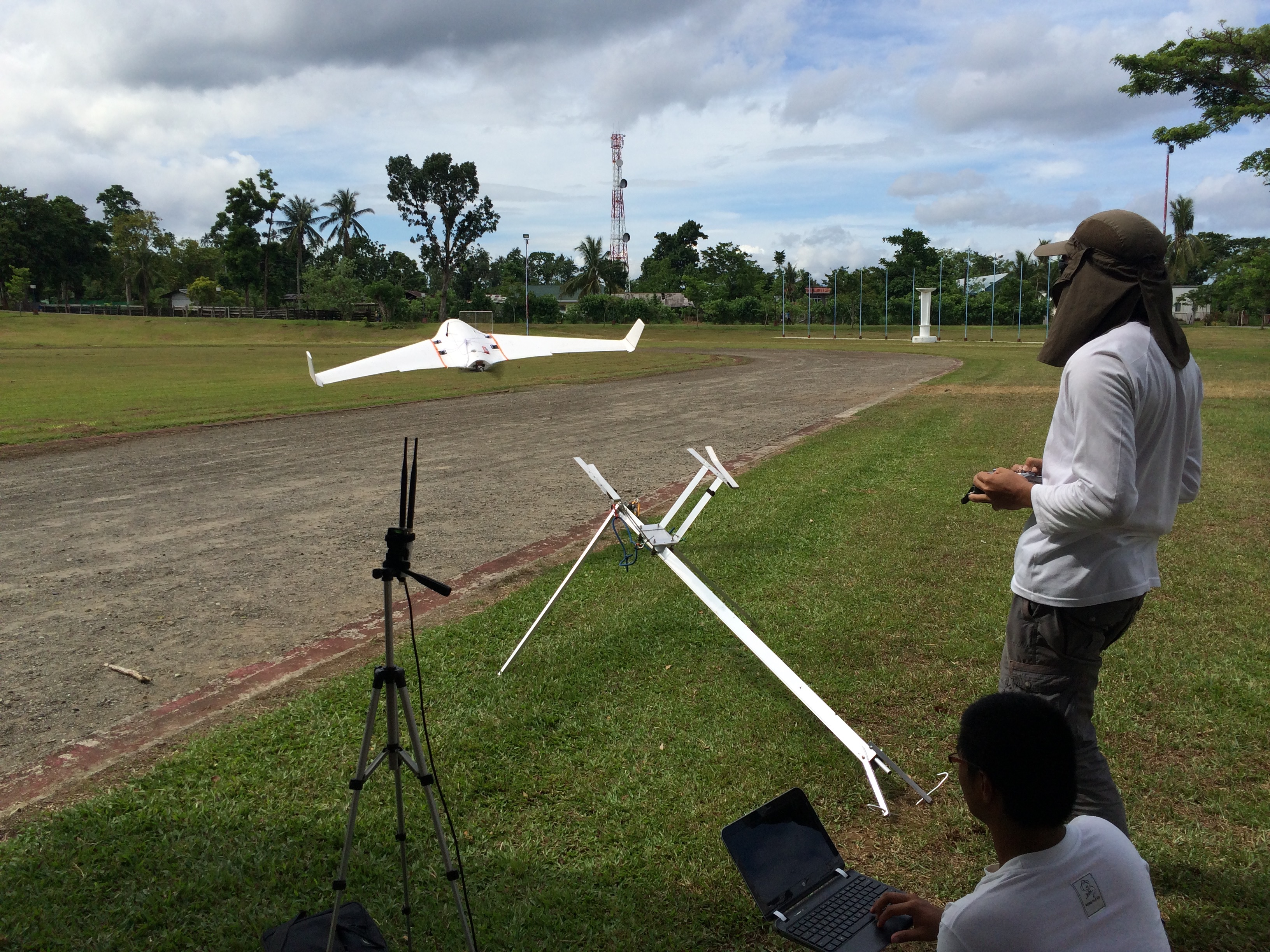 TAKING OFF. The drones range from 1.1 kg all the way to 25 kg on take-off weight u2013 meaning a full payload of infrared and hyper-spectral cameras and other specialized equipment, sensors, and fuel. Photo courtesy of Skyeye