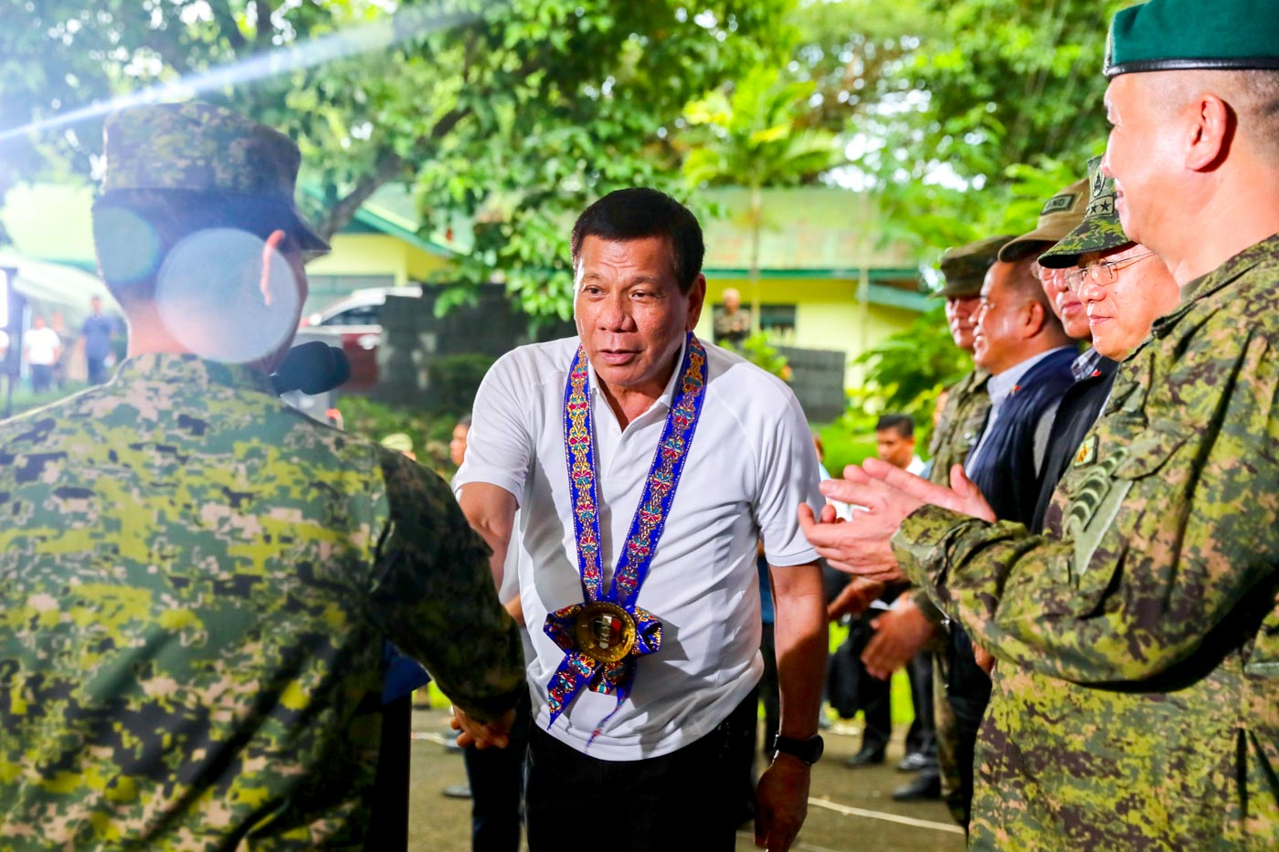 TRICKSTER. President Rodrigo Duterte, who now commands the Philippine military, says he tricked officials so he wouldn't have to complete ROTC. Presidential photo