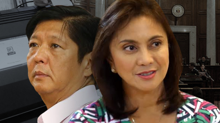 BONGBONG VS LENI. The son of the late dictator Ferdinand Marcos loses his vice presidential bid to then Camarines Sur representative Leni Robredo.