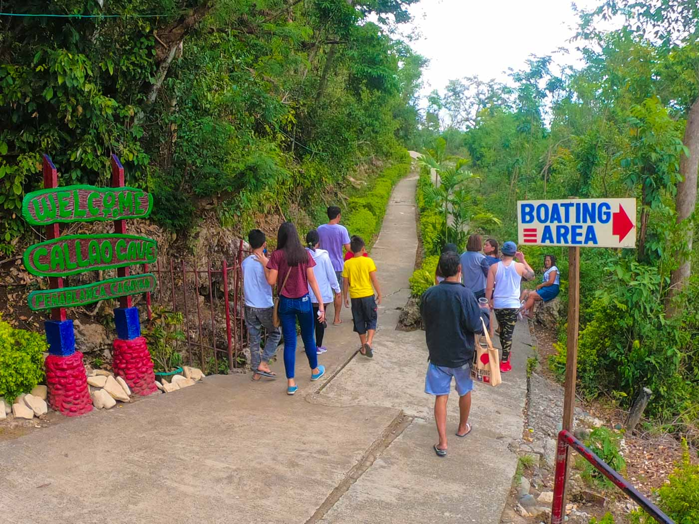TOURISM. Pathway from the visitor'u0080u0099s pavilion going to the stairway to Callao Cave mouth. Photo by Rommel Taruc of CPTO
