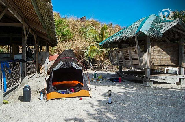 CAMPING. Though there is a resort in Sambawan with basic accommodations, you can camp also to save on costs. Photo by Elizur Orejola