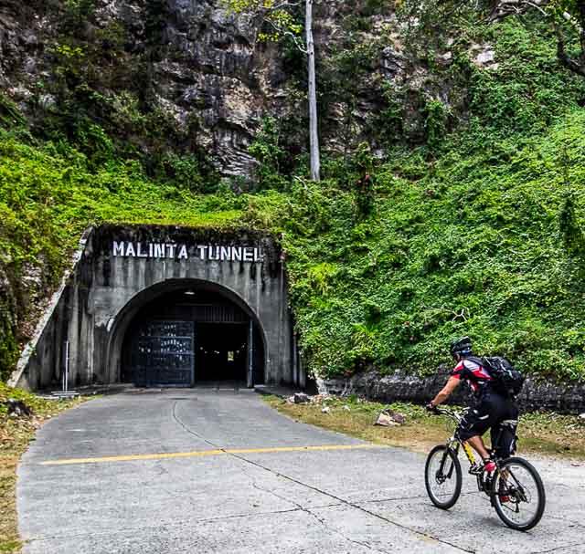 The writer entering Malinta Tunnel. Photo by John Hendrix