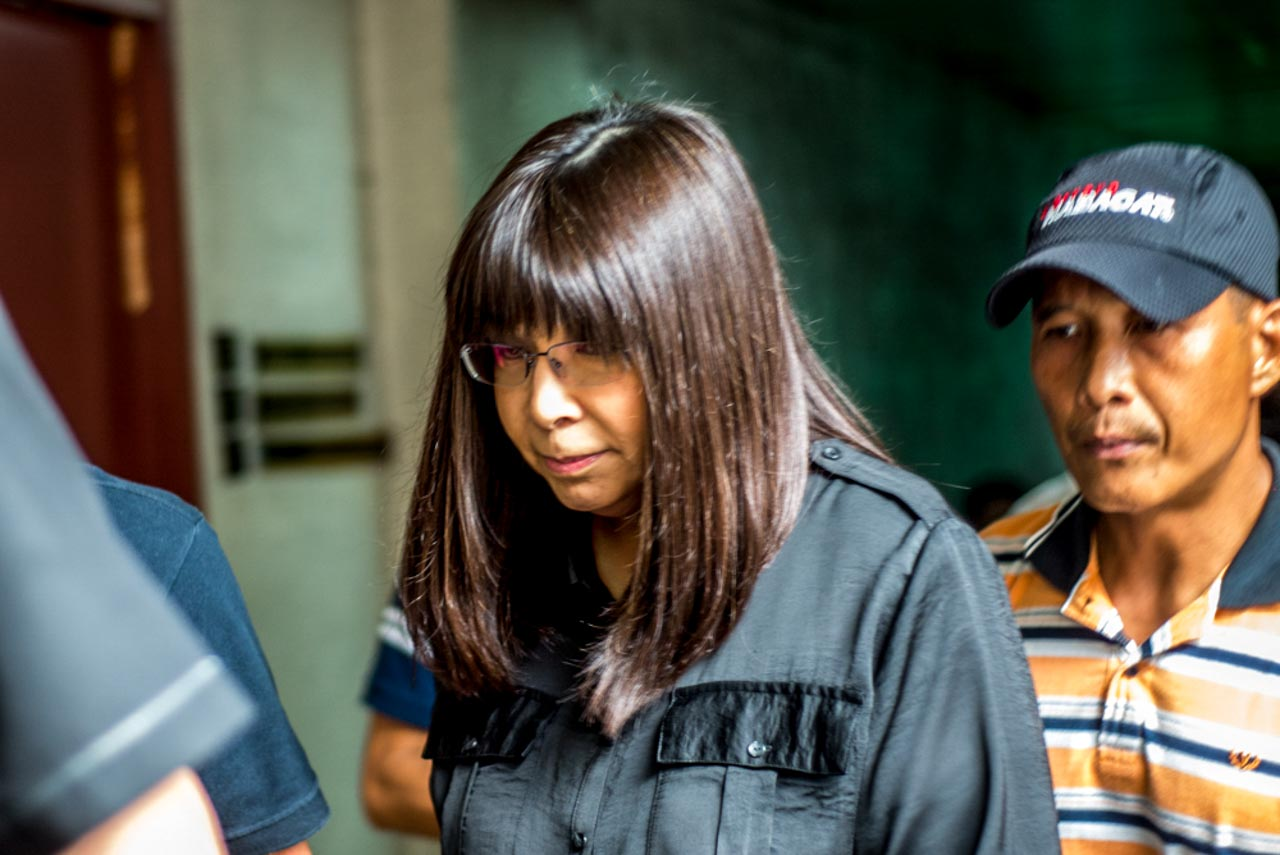 NEW COMPLAINT. Lottie Manalo, sister of INC's Eduardo Manalo, appears for the preliminary investigation on the new complaint she filed at the Quezon City prosecutor's office on Wednesday, January 27, 2016. Photo by Jansen Romero/Rappler