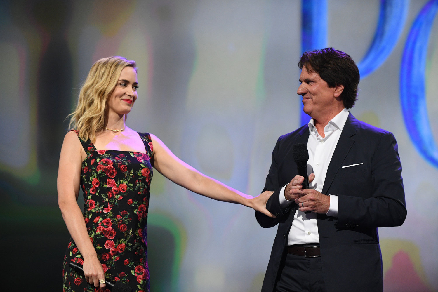 'MARY POPPINS' SEQUEL. Emily Blunt and Rob Marshall talk about the upcoming 'Mary Poppins Returns.' Photo by Disney/Image Group LA