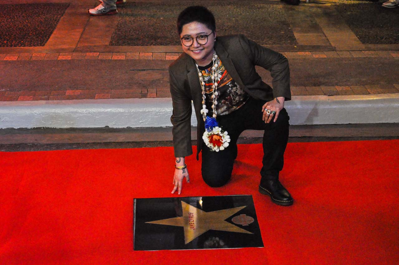 Jake Zyrus during the Walk of Fame event in Eastwood City