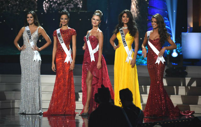TOP 5. Ladies from Colombia, Jamaica, Ukraine, the Netherlands, and the USA. Photo by Timothy A. Clary/AFP