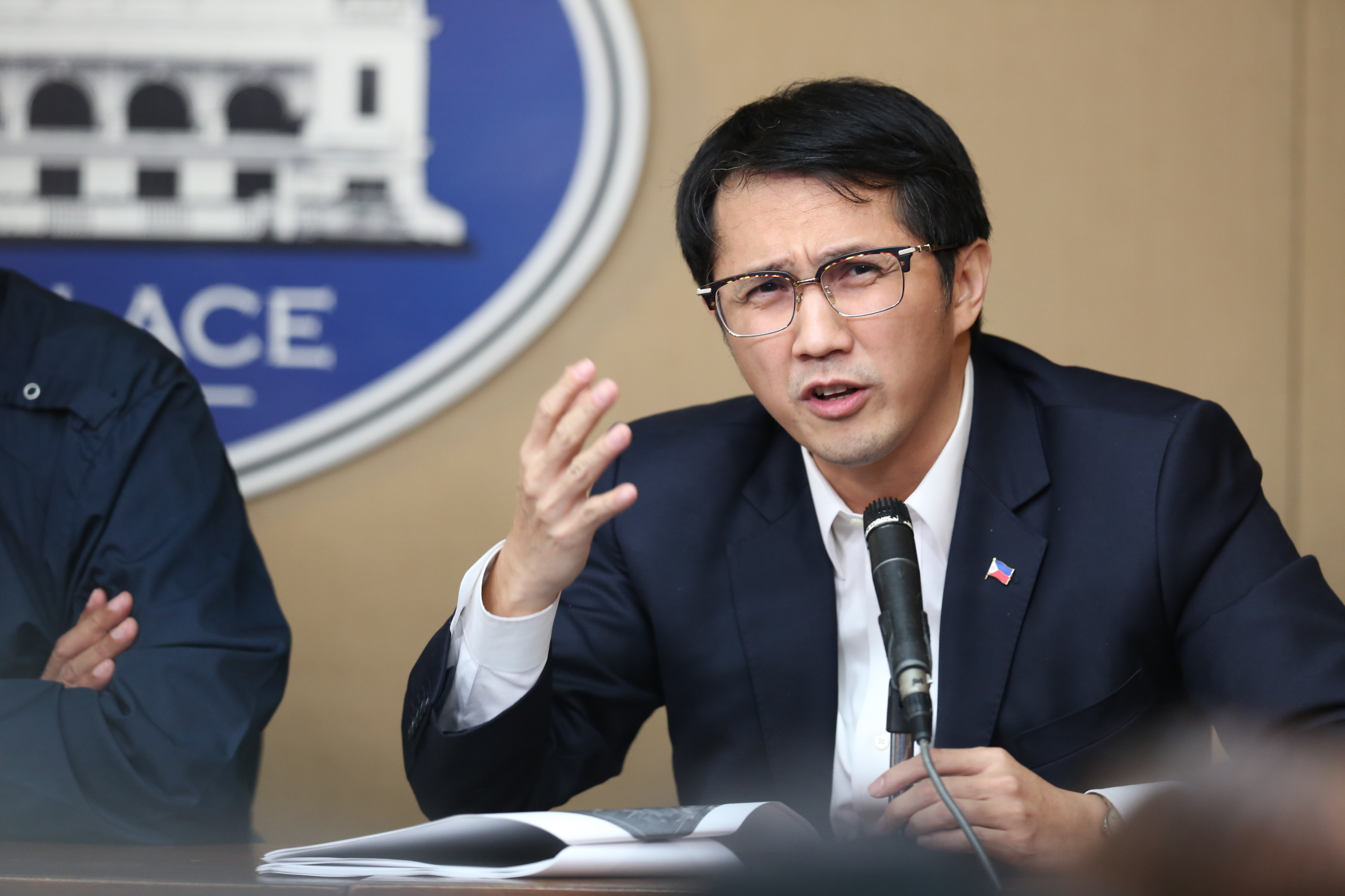 PHISGOC MEMBER. Bases Conversion and Development Authority president Vince Dizon speaks before the press. File photo by King Rodriguez/Presidential Photo