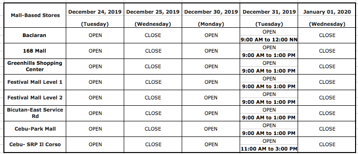 Bpi Christmas Banking Days For 2020 Bank schedules for Christmas 2019