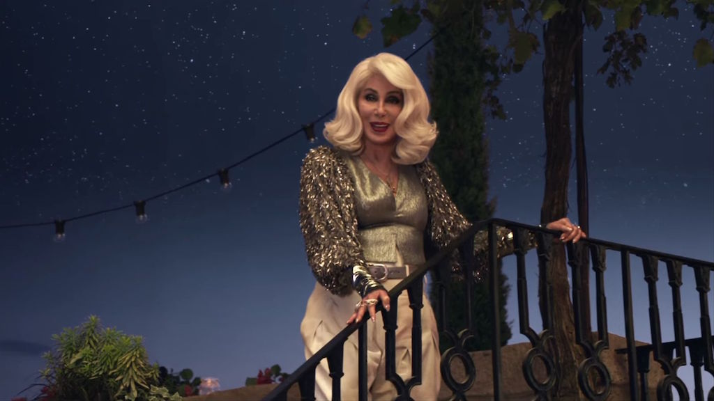 FERNANDO. Cher makes a special appearance in he movie as Donna's mother and sings 'Fernando.'