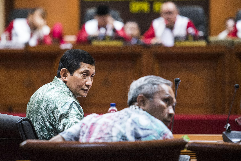 Presiden Direktur PT Freeport Indonesia Maroef Sjamsoeddin (kiri) hadiri sidang etik Mahkamah Kehormatan Dewan (MKD) DPR, pada 3 Desember 2015. Foto oleh Agung Rajasa/Antara