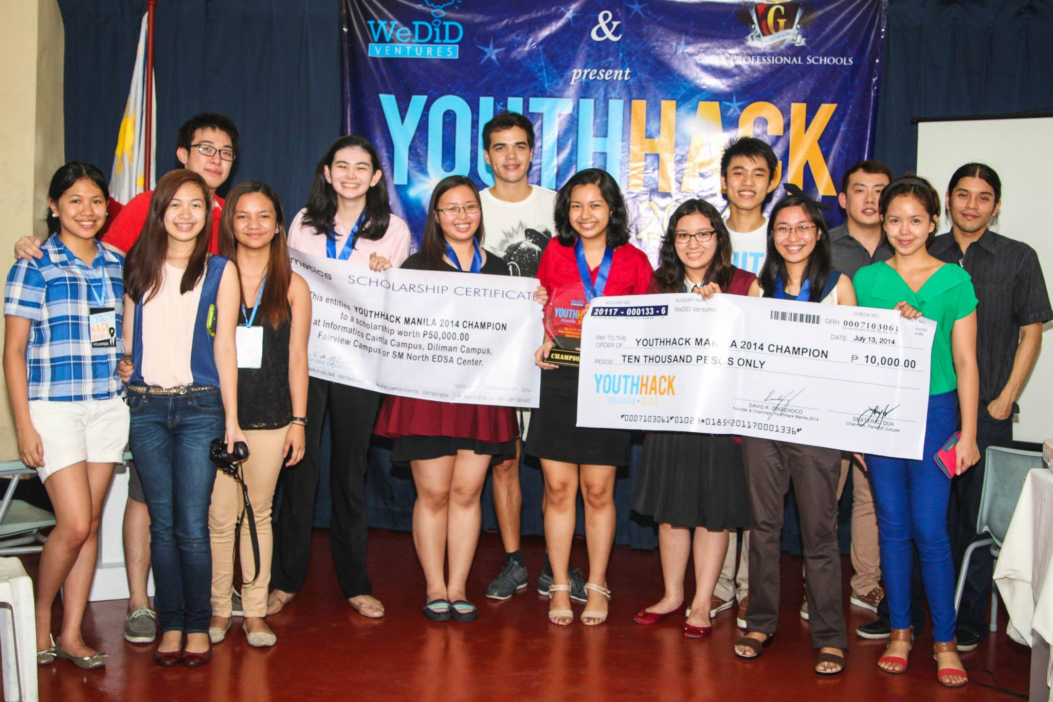 FUNDING. Micro Mafia, the championship team  at the first ever YouthHack Manila held last year. Photo by Deondre Ng .