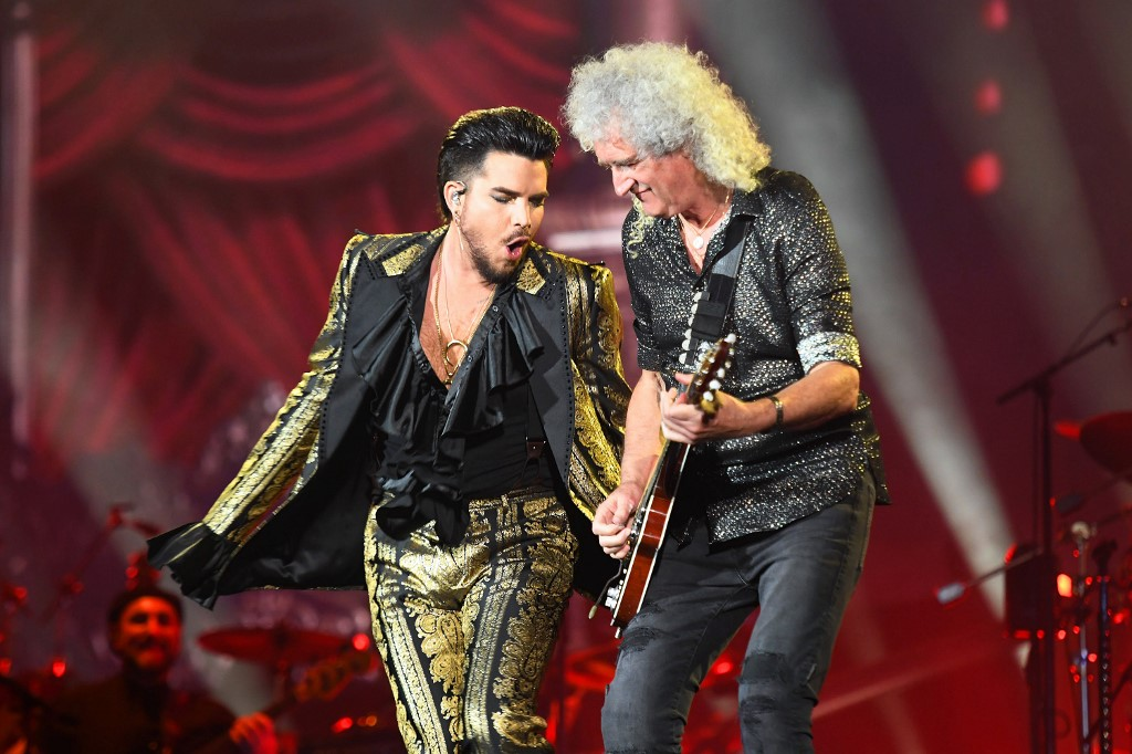QUEEN FRONTMAN. Adam Lambert and Brian May of Queen perform during the 2019 Global Citizen Festival: Power The Movement in Central Park on September 28, 2019 in New York City.  Photo by Noam Galai/Getty Images for Global Citizen/AFP
