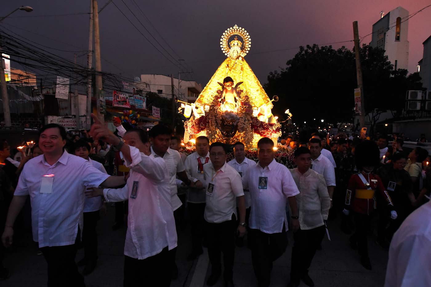 ANNUAL FEAST. The feast of Our Lady of the Most Holy Rosary, La Naval de Manila, is held every second Sunday of October. Photo by Maria Tan/Rappler