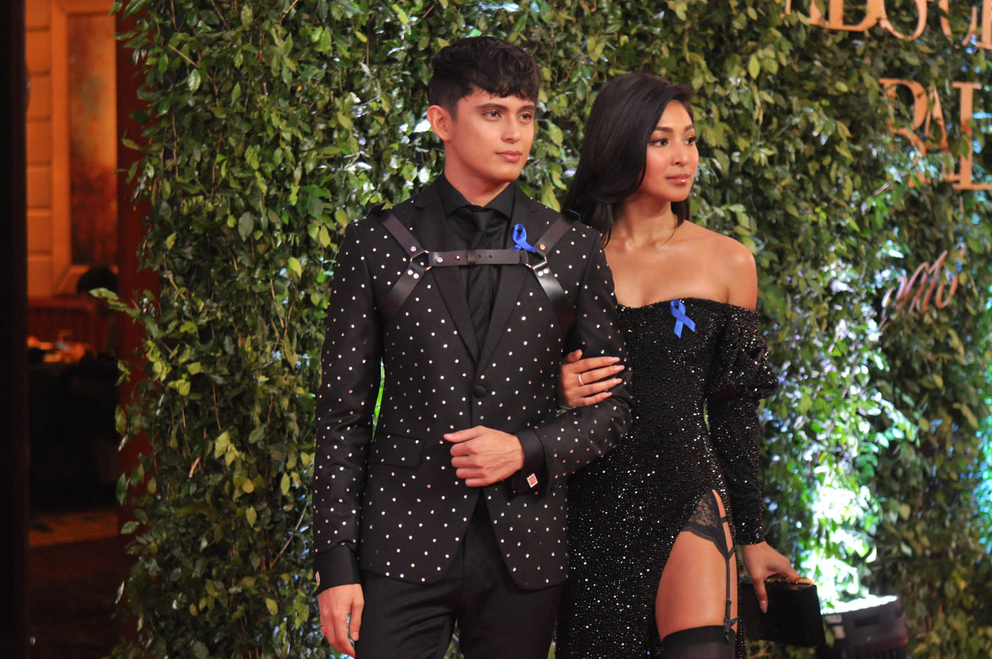 RED CARPET READY. James Reid and Nadine Lustre attend the ABS-CBN Ball for the first time in 2018. File photo by Jay Ganzon/Rappler