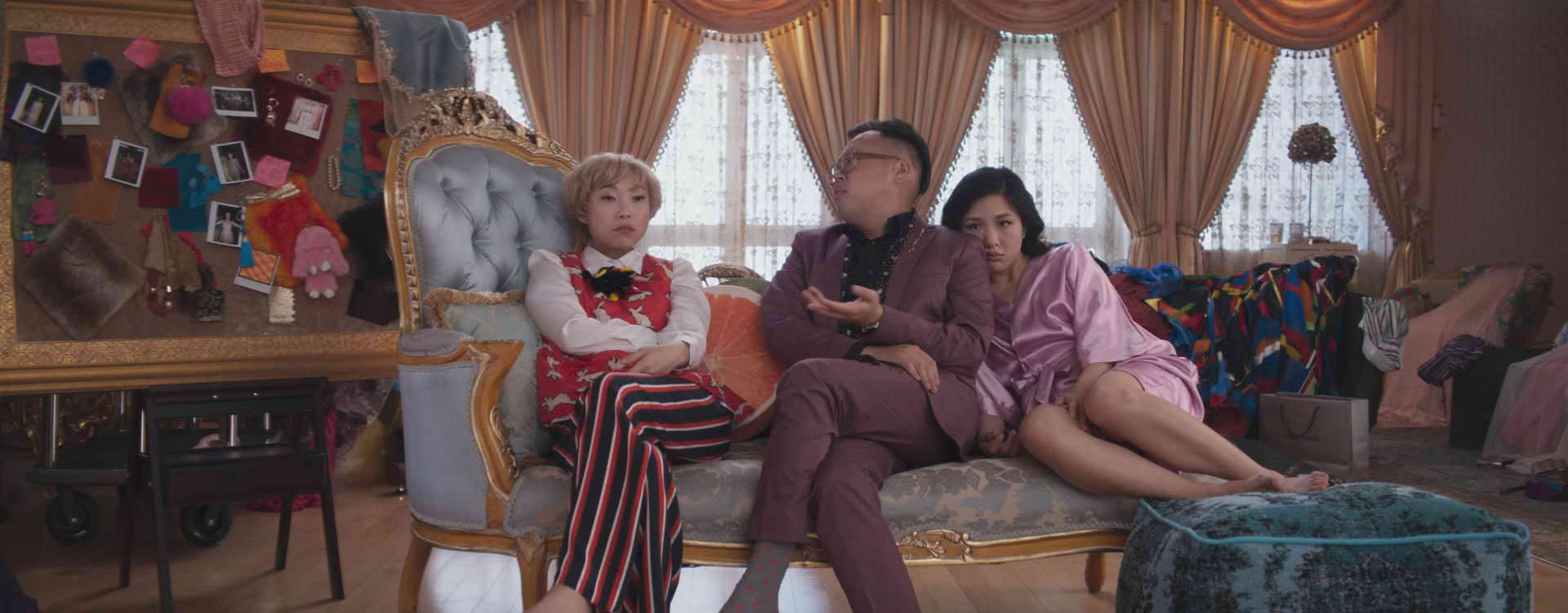 CINDERELLA SCENE. The makeover montage with Awkwafina and Constance was the first scene Nico filmed upon landing in Malaysia. Photo courtesy of Warner Bros/ Ratpac-Dune
