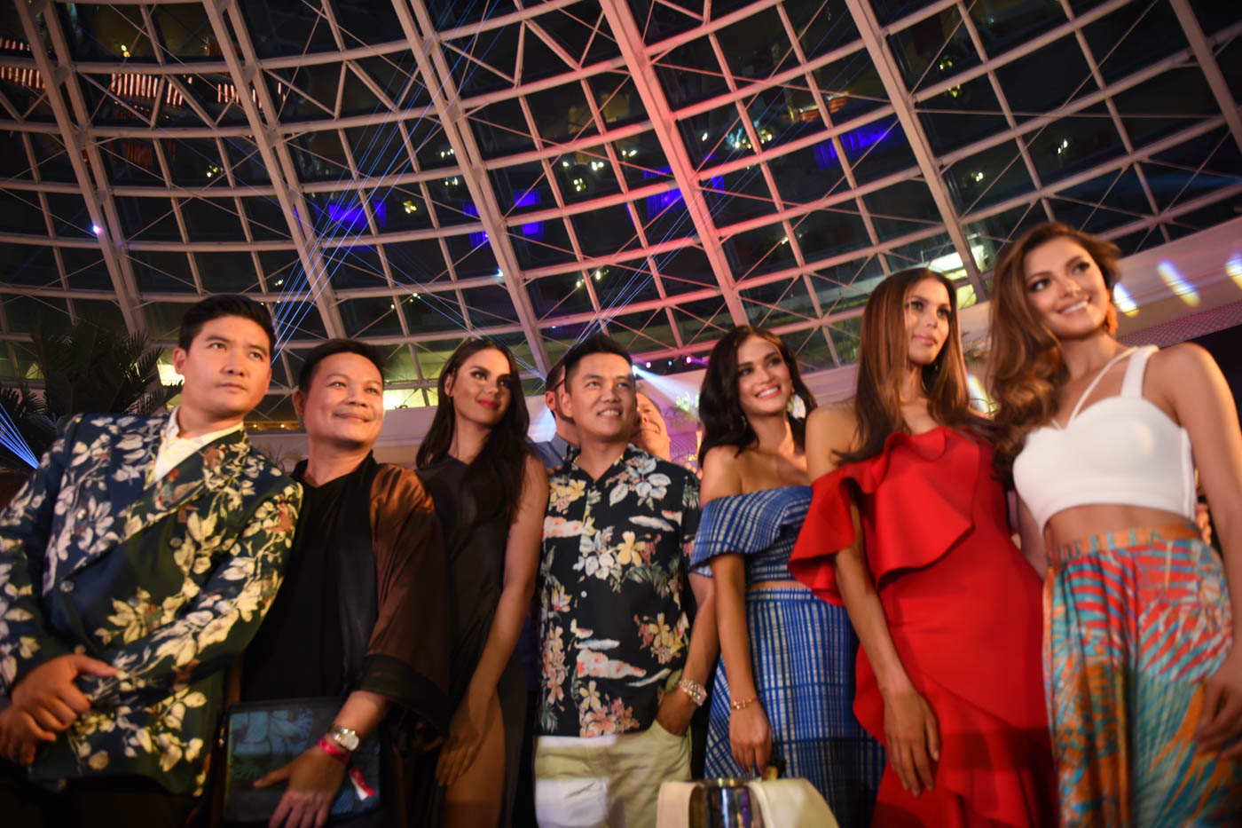 FUN TIME. The queens with Miss Universe Philippines 2018 Catriona Gray, Frontrow's Sam Verzosa, Jonas Gaffud, and Tim Yap.