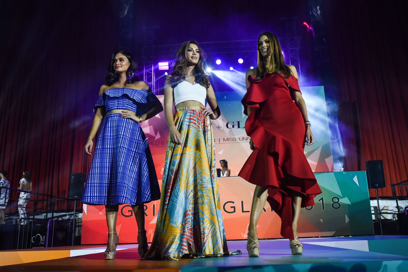 THE POWER OF 3. Pia Wurtzbach, Demi-Leigh Nel-Peters, and Iris Mittenaere.