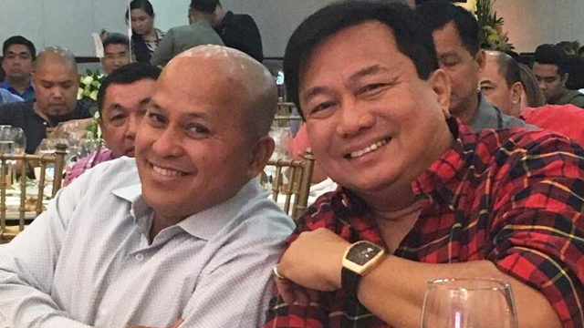 ALL SMILES. Philippine National Police chief Ronald dela Rosa and House Speaker Pantaleon Alvarez at Dela Rosa's birthday party on January 22, 2017. Photo courtesy of Special Assistant to the President Bong Go