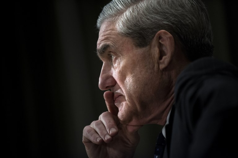 SPECIAL COUNSEL. This file photo taken on May 16, 2013 shows then Federal Bureau of Investigation (FBI) Director Robert Mueller in Capitol Hill in Washington, DC. File photo by Brendan Smialowski/AFP