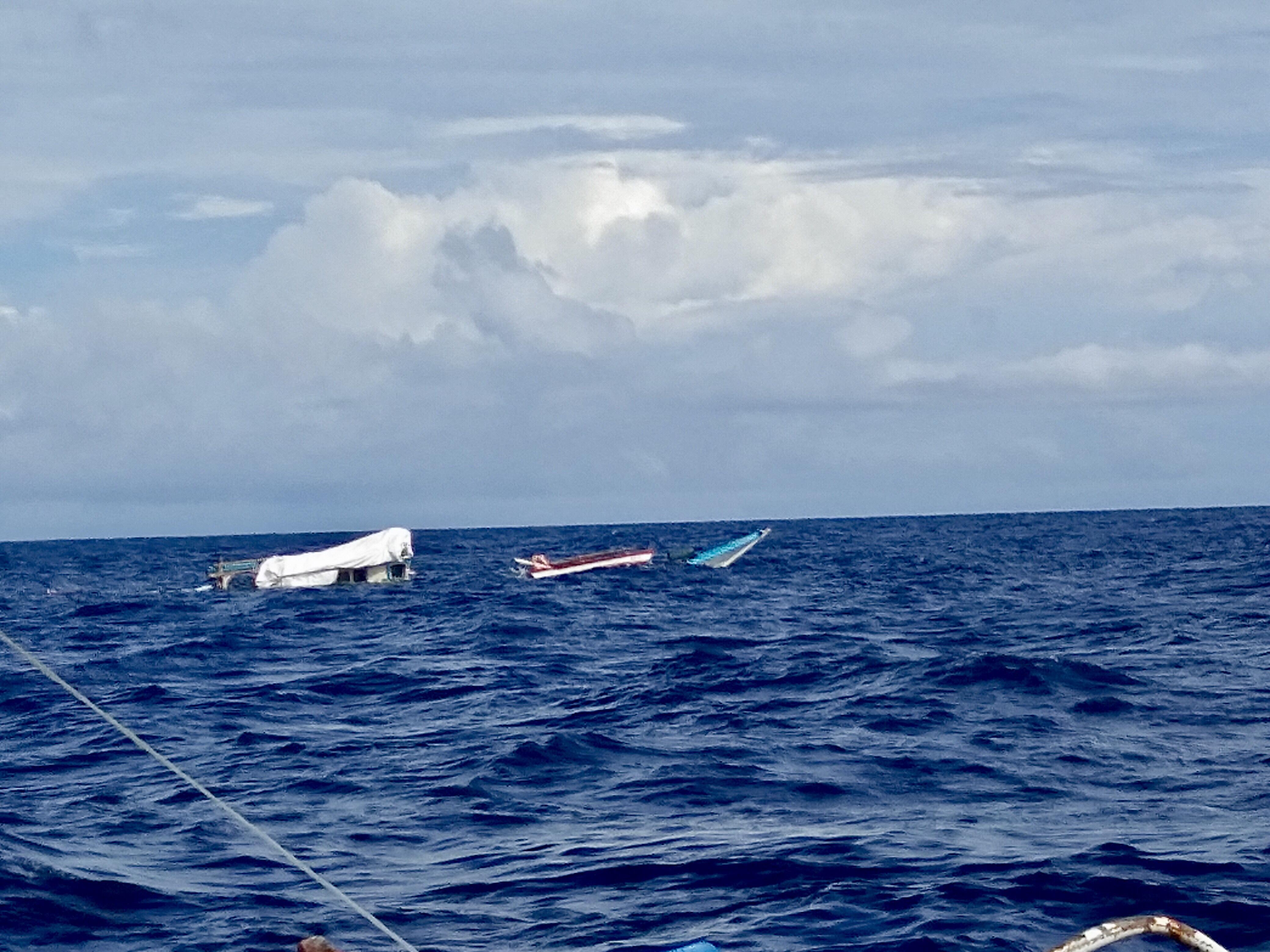 SUNKEN. Fishing Boat Gem-Vir in the West Philippine Sea. Sourced photo