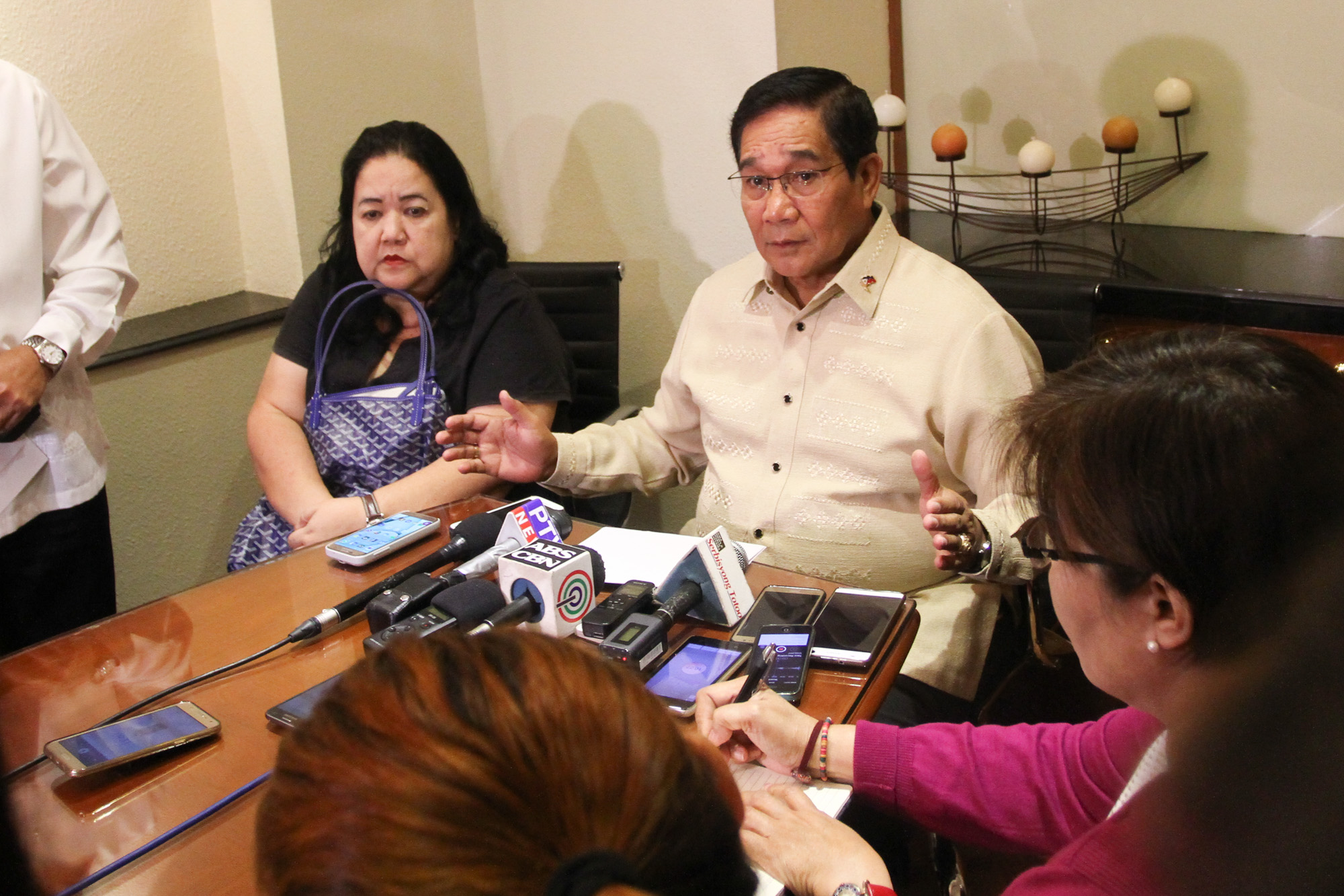 TALKS WITH RUSSIA. National Security Adviser Hermogenes Esperon holds a press conference at the Marco Polo Hotel in Davao City on February 17, 2017. Photo by Manman Dejeto/Rappler