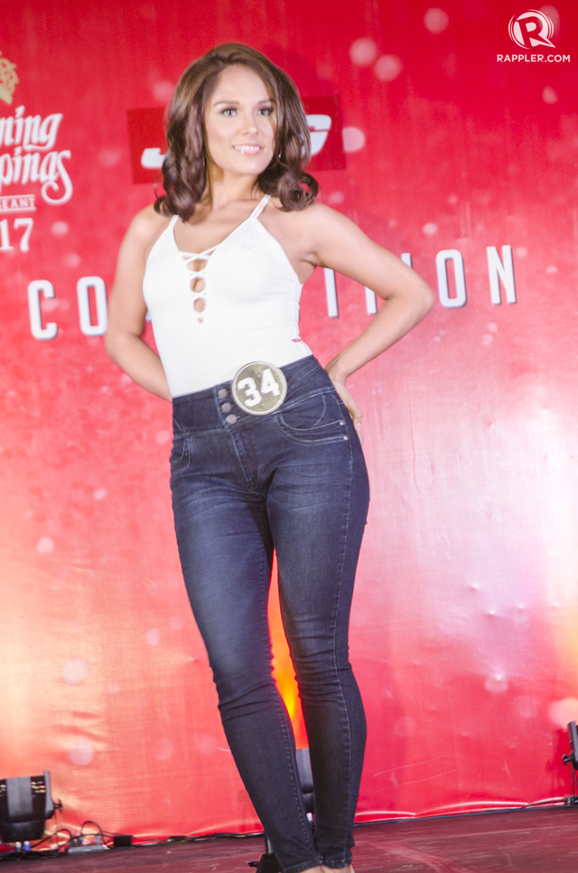 Gabriela Ortega during the Bb Pilipinas 2017 Jag Denim Fashion show. File photo by Rob Reyes/Rappler