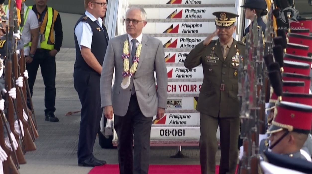 ASEAN SUMMIT. Australian Prime Minister Malcom Turnbull is in the Philippines for the ASEAN Summit