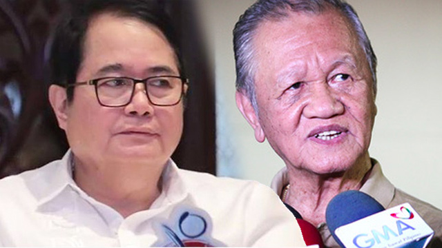TAKING ACTION. Ricky Vargas (left) fires former POC president Peping Cojuangco from his position as chairman of Constitutional Amendments Committee. Photos from SBP (Vargas) an Rappler file (Cojuangco)