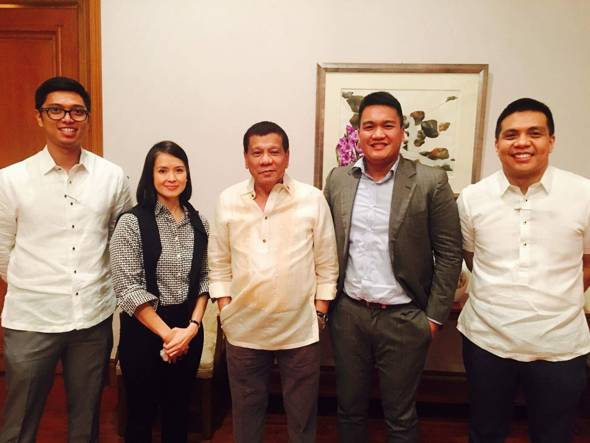 NATIONAL SECURITY MATTER. Patricia Bautista and her lawyers meet with President Rodrigo Duterte in Malacau00f1ang