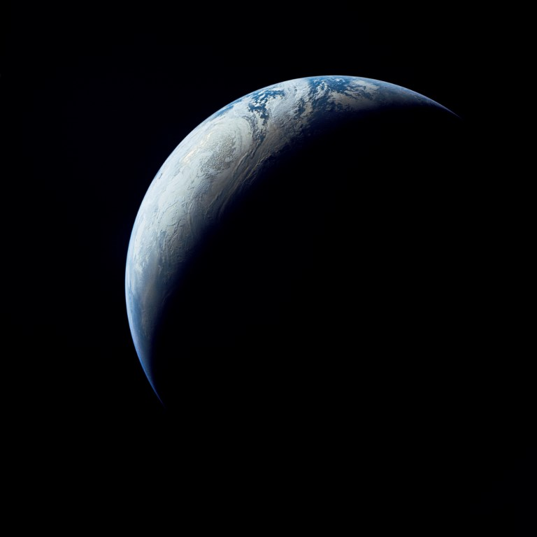 ROUND MOON. This NASA handout photo released on November 9, 2017 shows on November 9, 1967, when the uncrewed Apollo 4 test flight made a great ellipse around Earth as a test of the translunar motors and of the high speed entry required of a crewed flight returning from the Moon. Handout/NASA/AFP