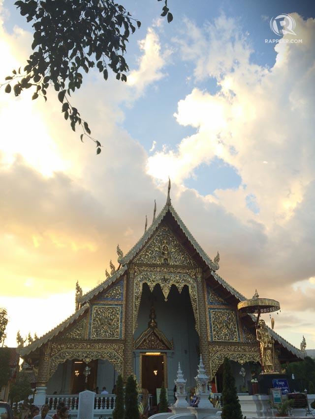 Sunset at Wat Prah Singh. Photo by Ina Sebastian