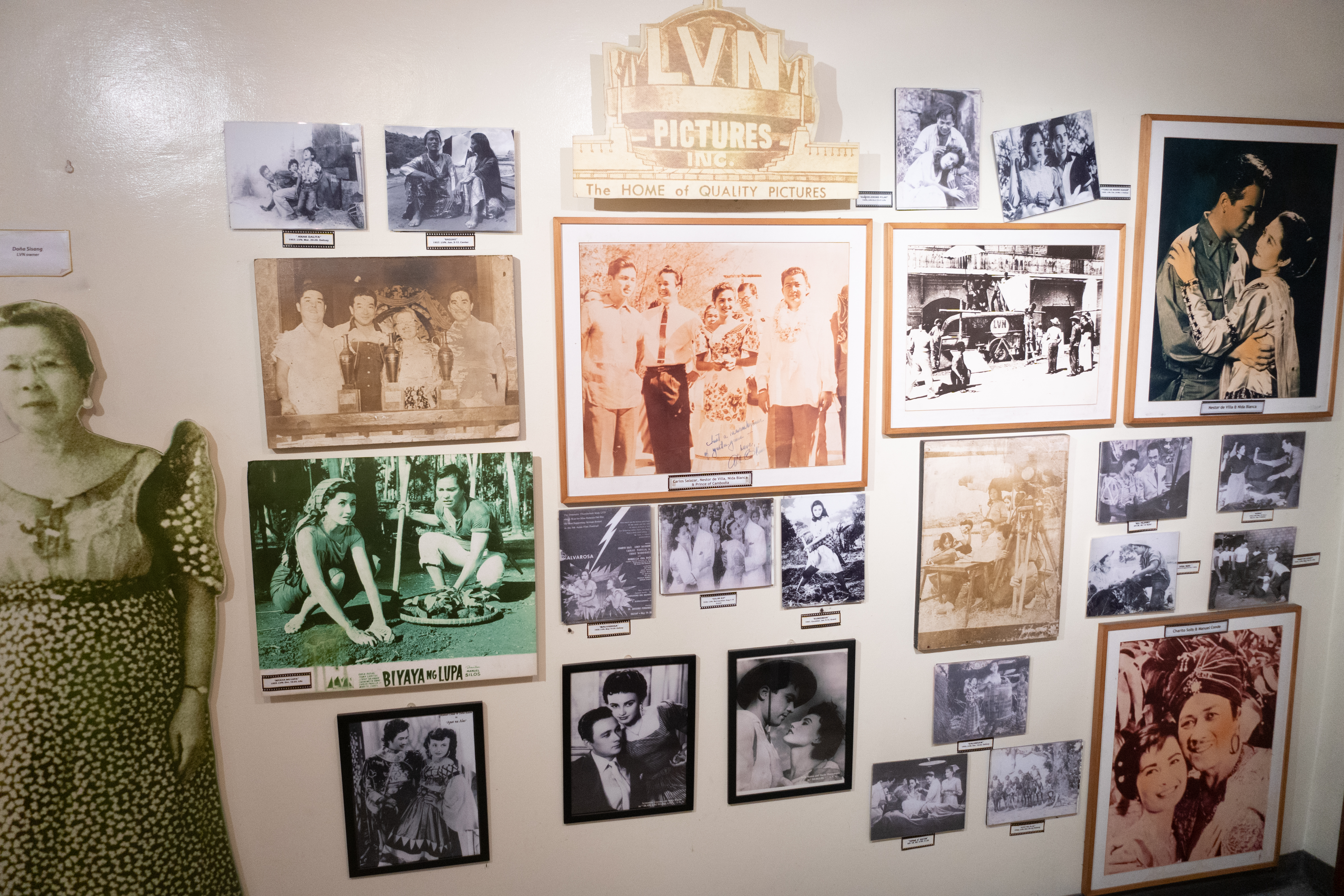 LVN. Photos of some of LVN Pictures' movies and tandems are displayed at Mowelfund's Museum in Quezon City.