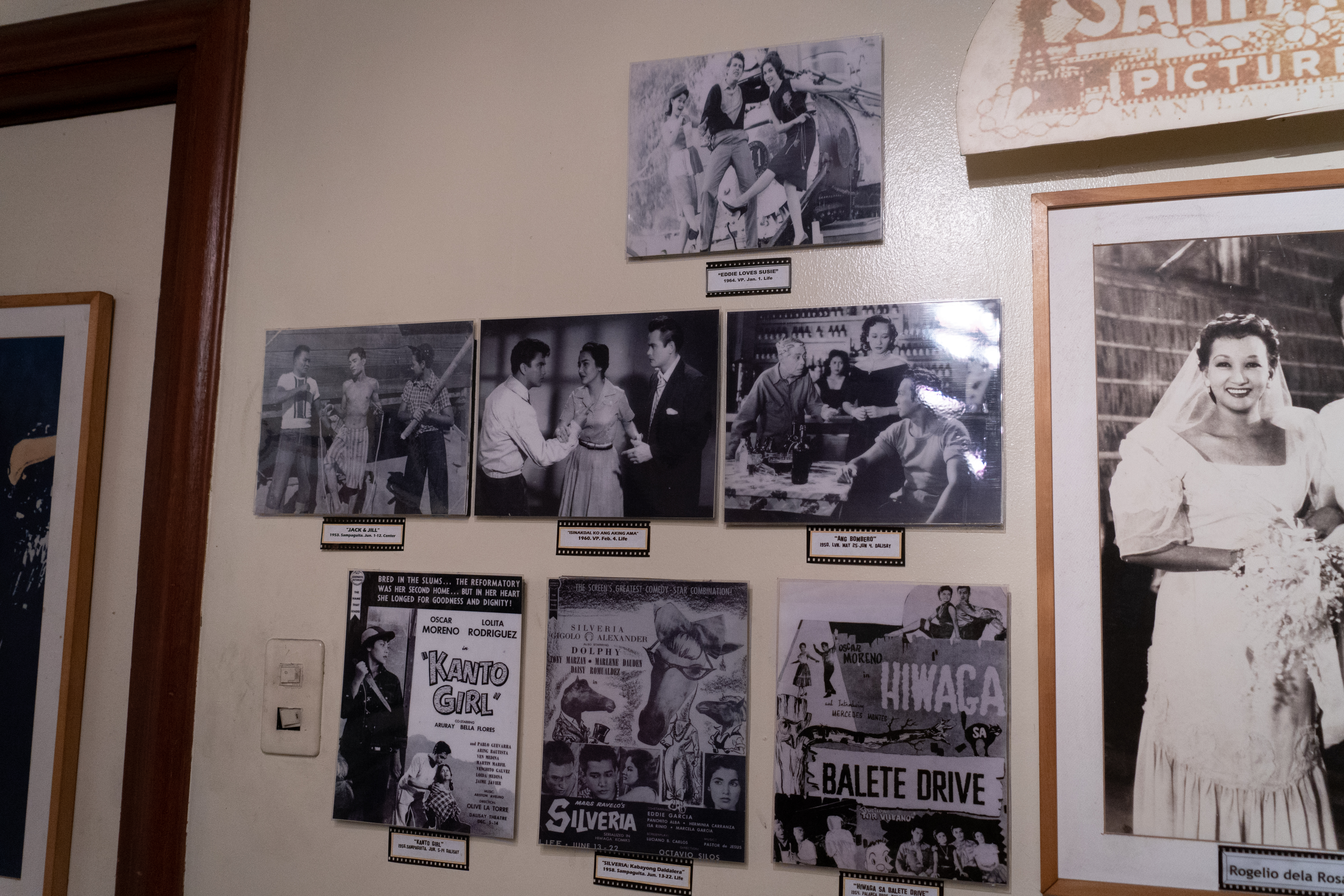 The gallery of stills from Sampaguita Pictures displayed at Mowelfund.