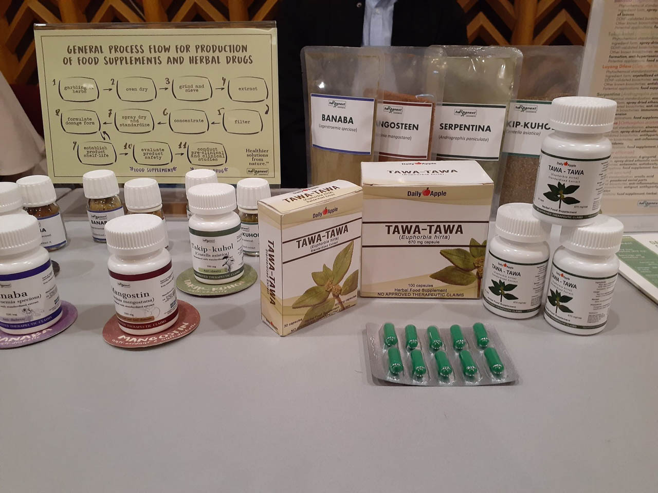 PLANT-DERIVED. Some of the plant-derived medicines and supplements. Photo courtesy of DOST-STII
