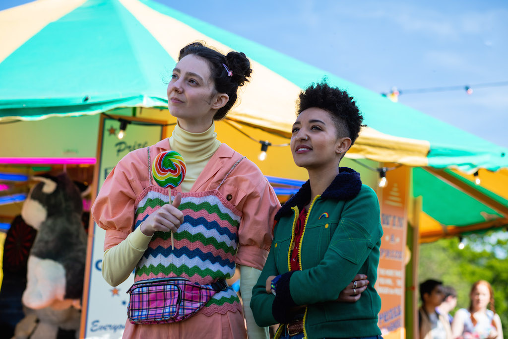 UNLIKELY FRIENDSHIP. Lily (Tanya Reynolds) and Ola (Patricia Allison) bond in the upcoming season of 'Sex Education.' Photo courtesy of Netflix