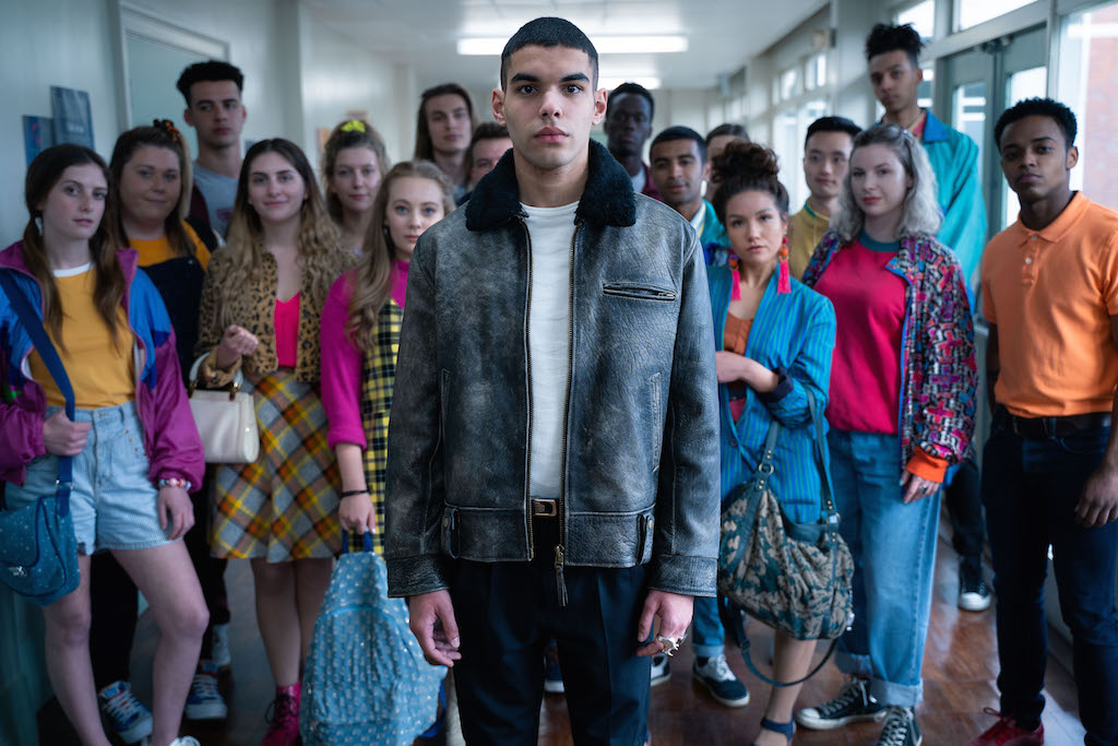 HEADTURNER. Sami Outalbali plays a new French student in the second season. Photo courtesy of Netflix