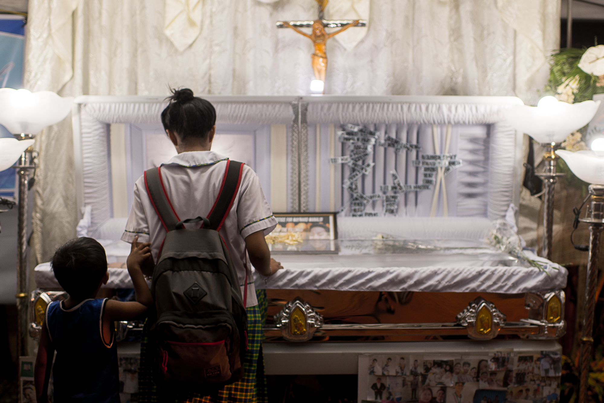 WELL-LOVED. Classmates, neighbors, and relatives attest to the good behavior of the 17-year-old Maynard, who was killed by known robbers and carnappers in Makati on November 14, 2017. Photo by Eloisa Lopez/Rappler
