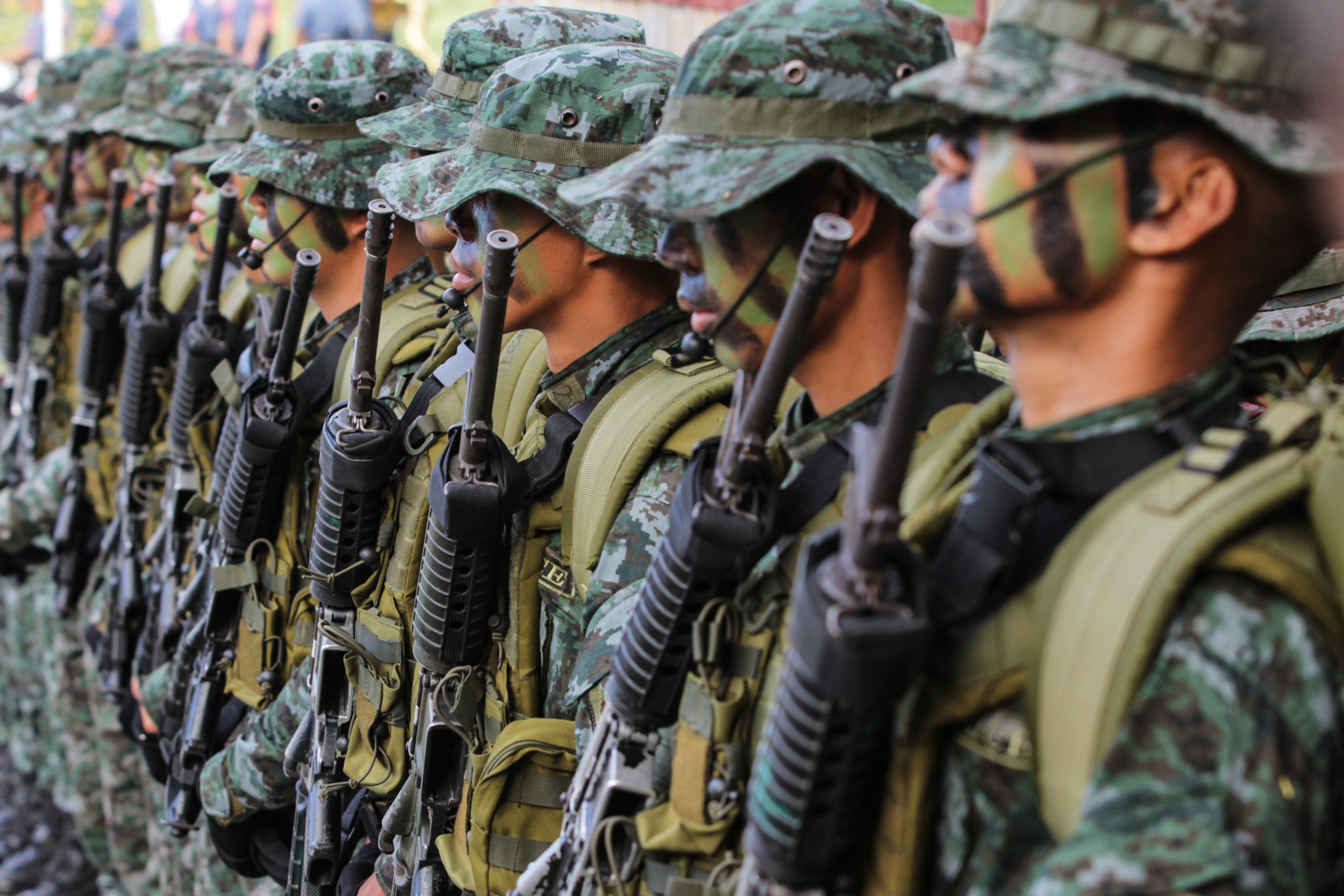 'TAGALIGTAS' BROTHERS. Special Action Forces troops stand during the day of remembrance of the SAF 44 at Special Action Force Headquarters in Bicutan, Taguig. Photo by Lito Borras/Rappler
