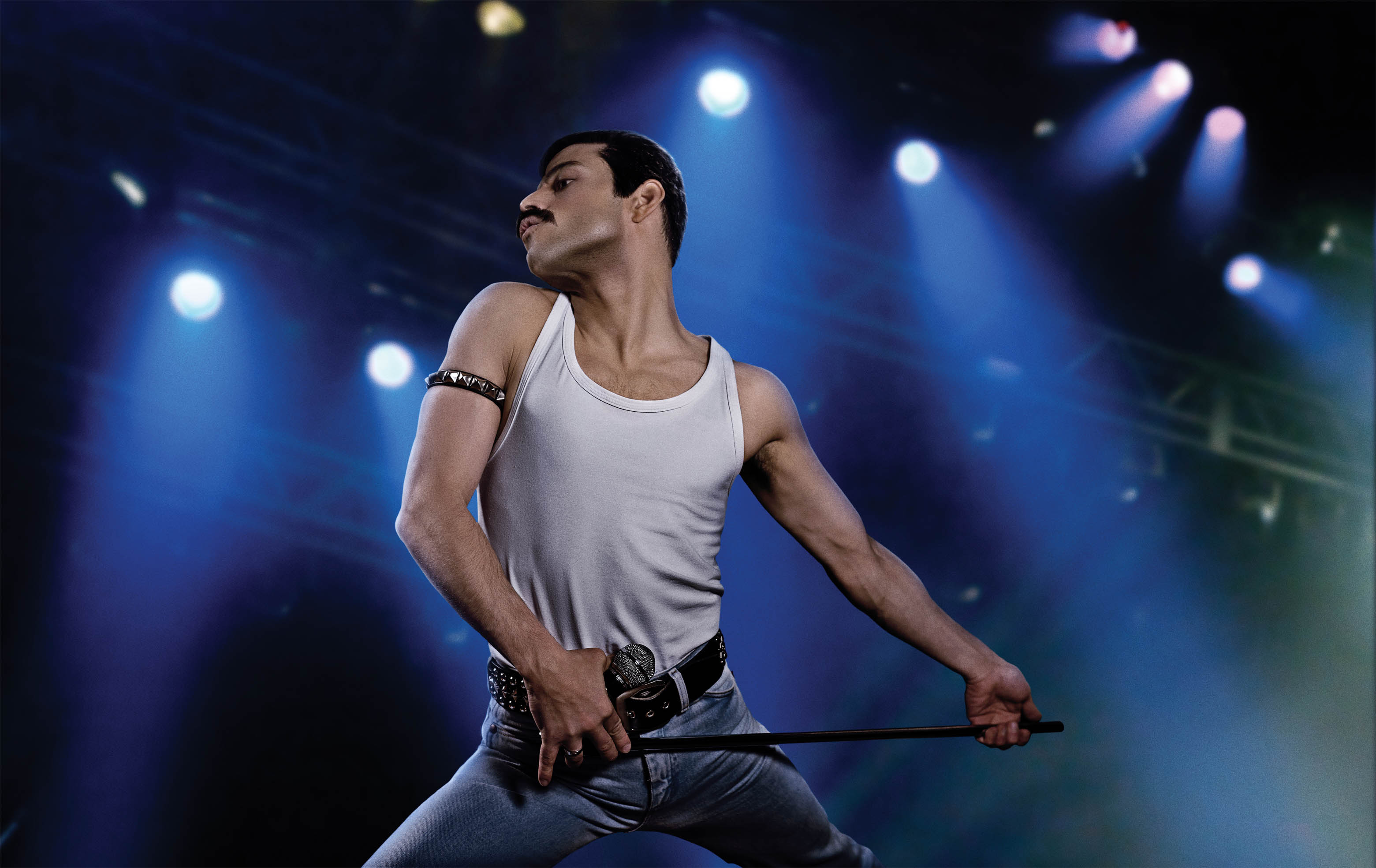 RAMI MALEK. The Egyptian-American actor transforms into Freddie Mercury at the 1985 Live Aid concert. Photo courtesy of 20th Century Fox/New Regency