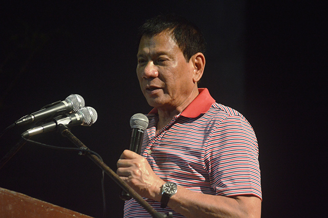 FOR PRESIDENT? Davao Mayor Rodrigo Duterte appears to be testing presidential waters. File photo by Gualberto Laput