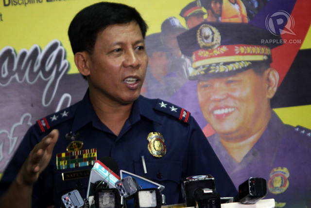 Former PNP Special Action Force head police director Getulio Napeu00f1as Jr. during a press conference at the PNP press office in Camp Crame in Quezon City on February 4. Photo by Ben Nabong/Rappler