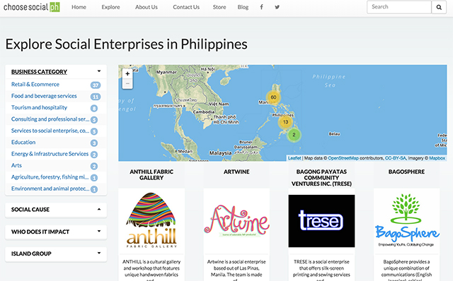 REACH. ChooseSocial.PH wants to improve the social media reach of their brand and add more social enterprises to the platform, so they can help more of them break into the mainstream. Screen grab from ChooseSocial.PH website