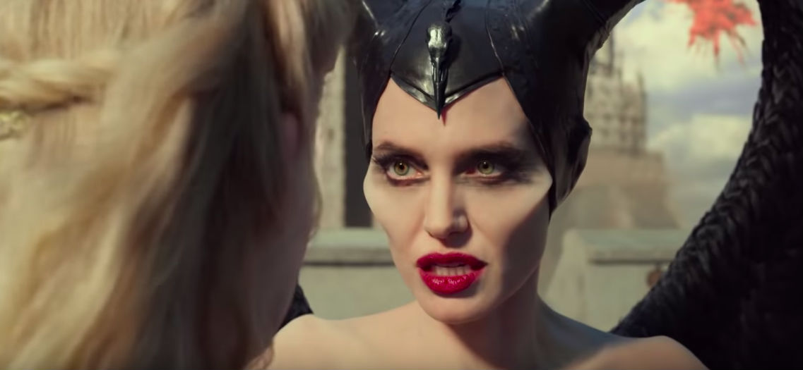 CONFRONTATION. Maleficent and Aurora confront each other as Maleficent unleashes her power.