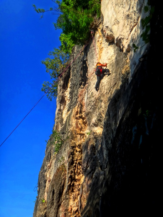 ROCK CLIMBING. Ideal for mountain climbers, rock climbing requires strength and presence