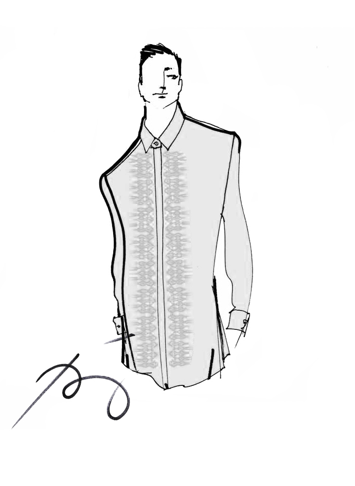 DUTERTE'S BARONG. President Duterte will wear a white barong with dove grey T'boli embroidery