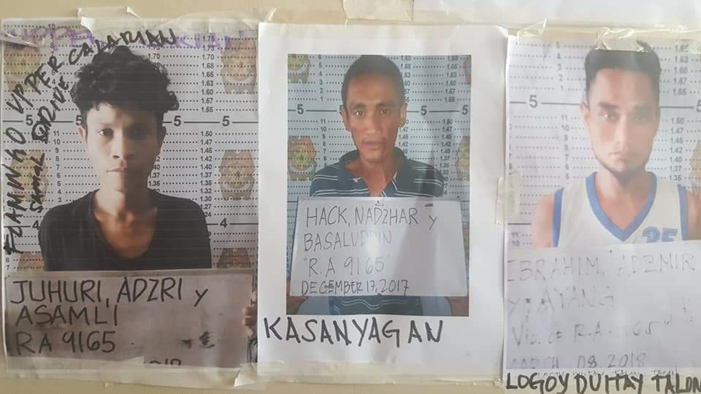 STILL AT LARGE. Some of the inmates who escaped from Police Station 6 in Zamboanga City on April 10, 2018. Photo Courtesy of Zamboanga City Police Office