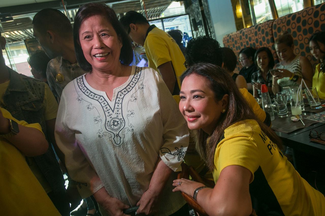 Korina Sanchez-Roxas and Mother Lily Montiverde