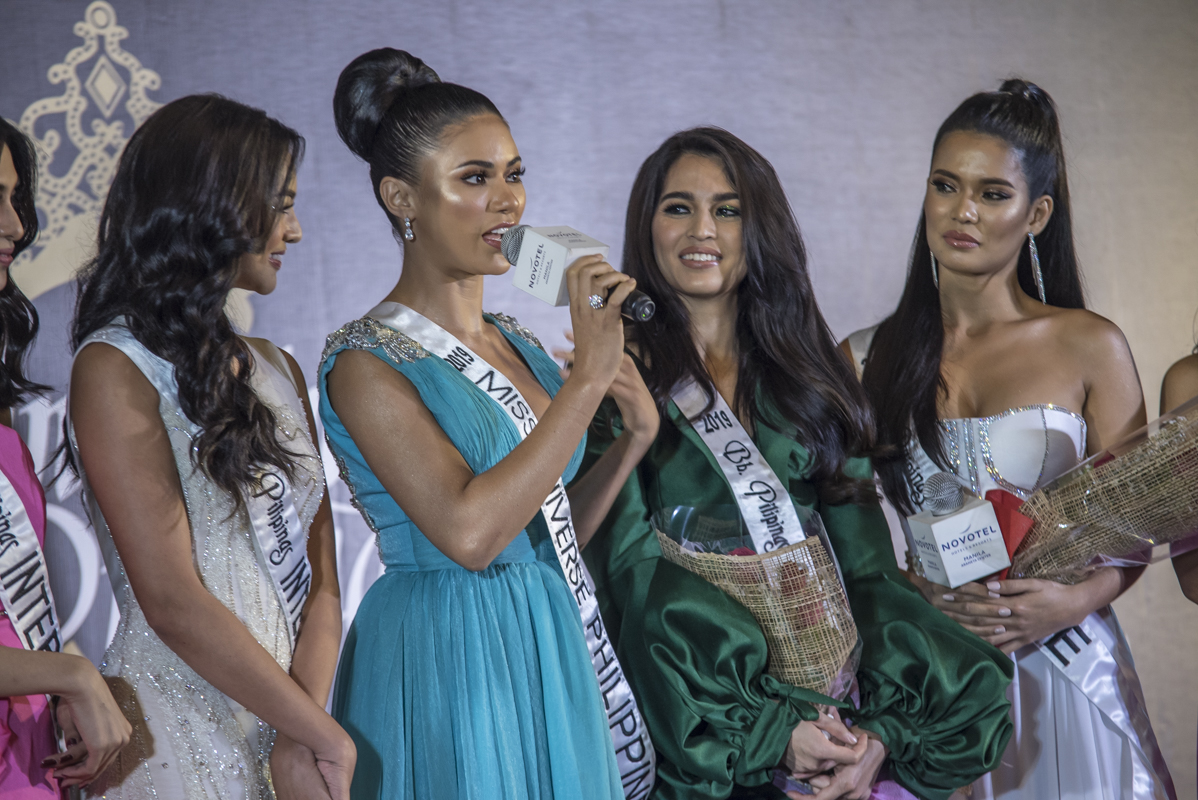 Miss Universe Philippines 2019 Gazini Ganados wishes Samantha and Leren in their respective competitions.