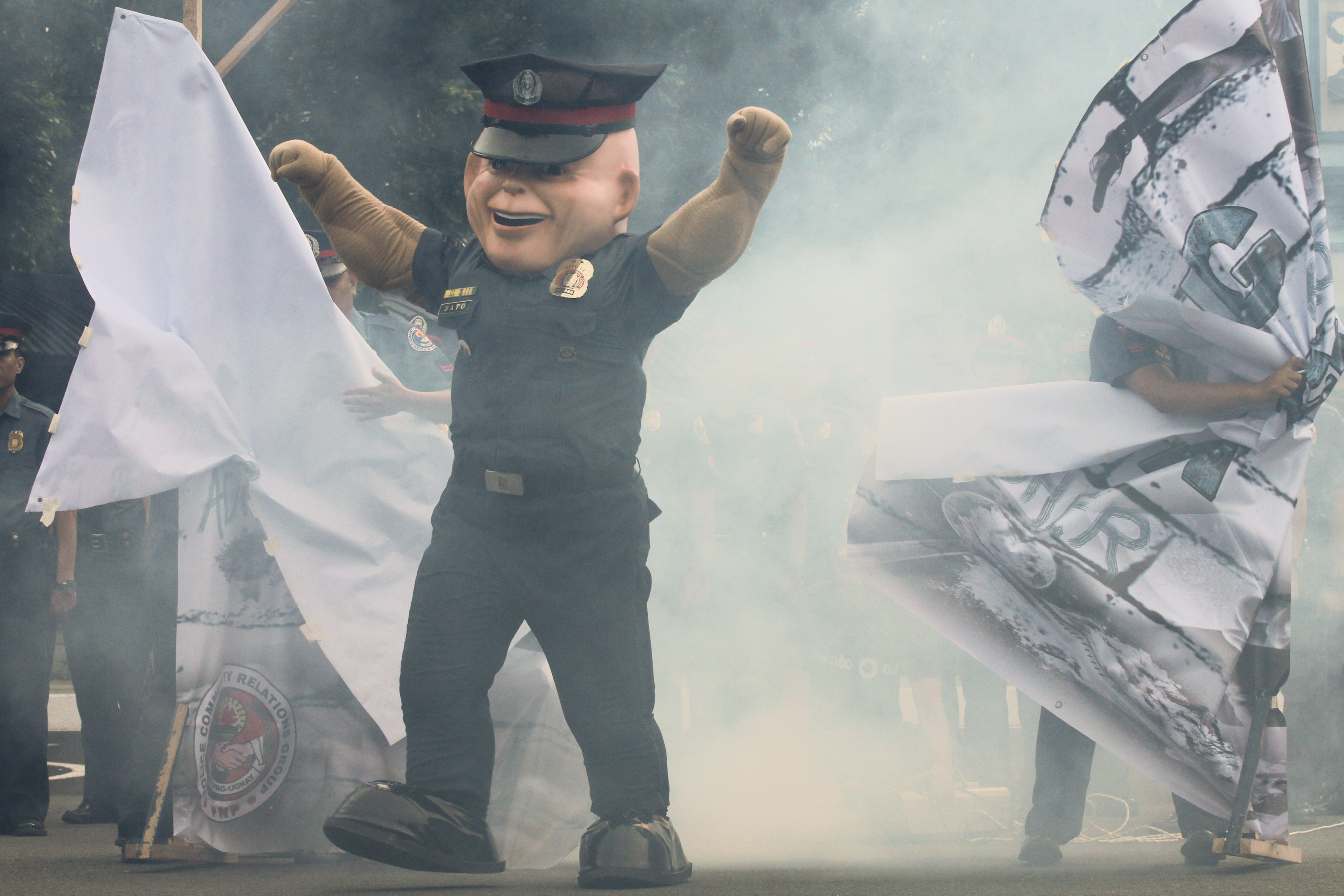 'PO1 BATO.' The PNP unveils its newest mascot. Photo by Toto Lozano/PPD